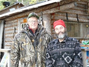 Raynald and Claude in front of the hunt camp