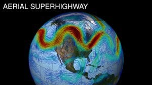 Jet Stream - the high-altitude river of air that circles the Northern Hemisphere  (NASA - GSFC)