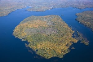 Aerial View of Boyd Island - Kawartha Land Trust