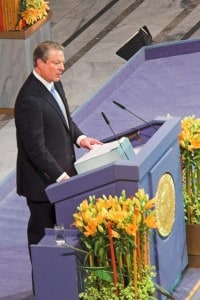 Al Gore upon receiving the Nobel Peace Prize in 2007 - Wikimedia