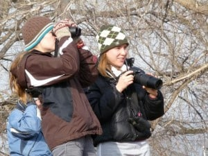 Birding is attracting more and more young people. Drew Monkman