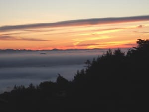 Sunrise over Mill Valley and San Francisco Bay (Photo: Drew Monkman)