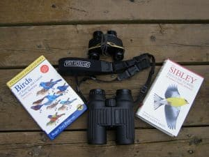 A wide range of binoculars and field guides are available (Drew Monkman)