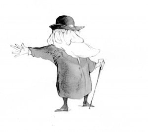 Charles Darwin cartoon character - Kady MacDonald Denton