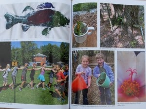 There are 16 pages of colour photos that link to some of the activities.
