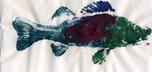 Gyotaku fish print - Jacob Rodenburg