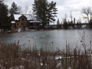 Ice circles at Burri's pond - Kawartha Park - December 5, 2016 - Sandra Burri