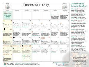 Calendar page for December 2017 (Ben Wolfe)